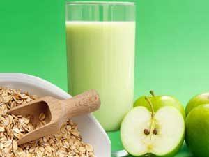 manzana con avena para bajar de peso